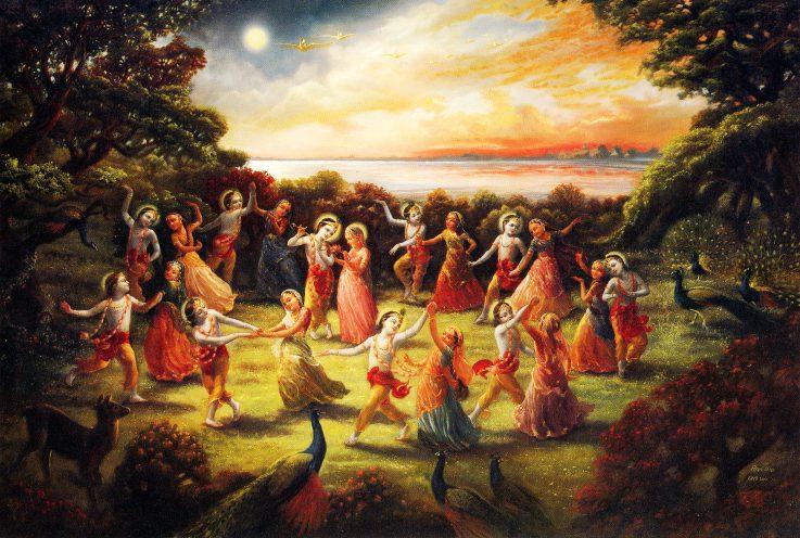 A rāsa-tánc filozófiai háttere