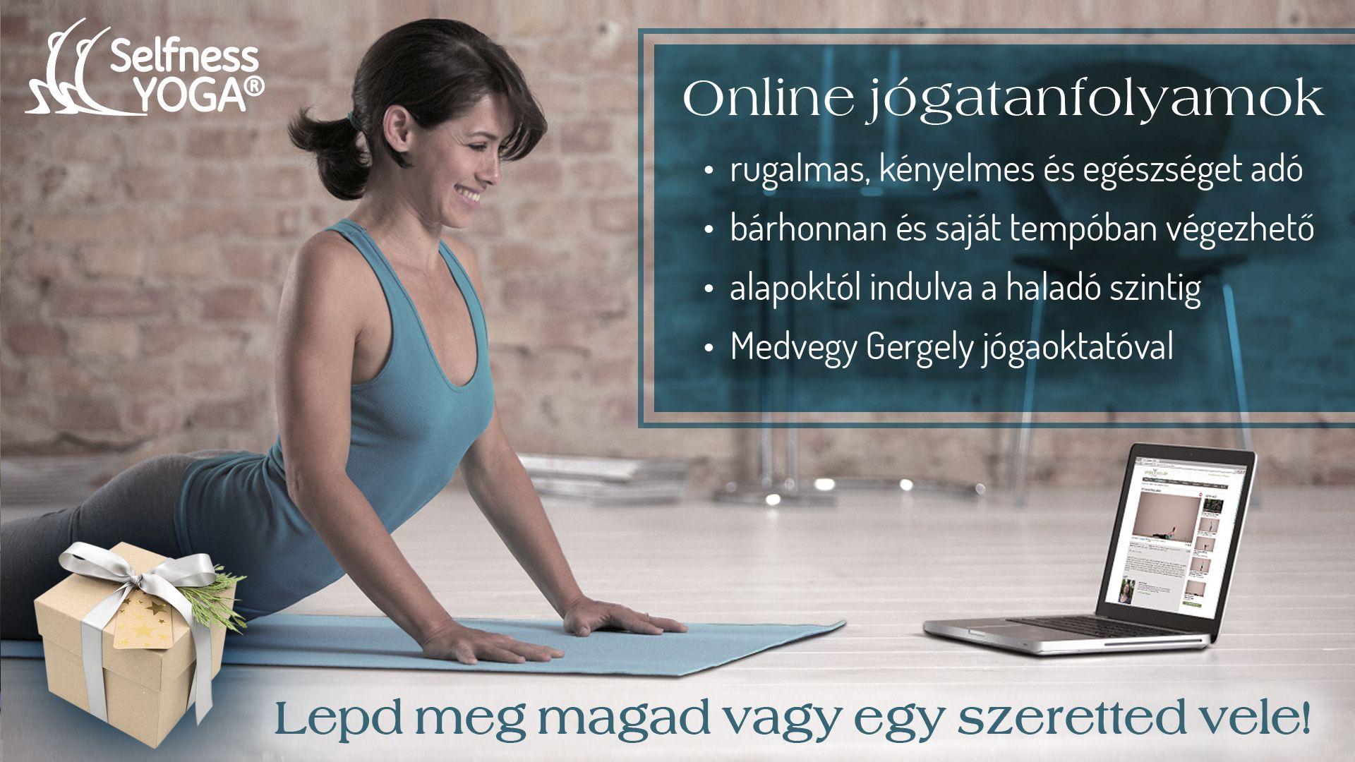 Megoldás a biztonságos otthoni jógázáshoz: online jógatanfolyamok