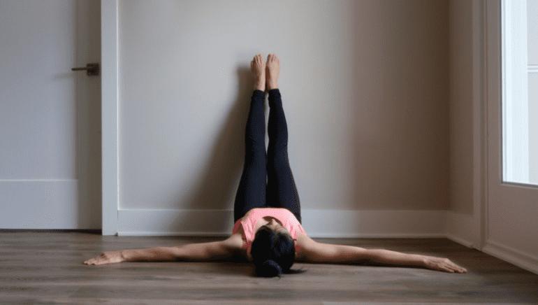 Stresszűzés falnak támasztott lábakkal